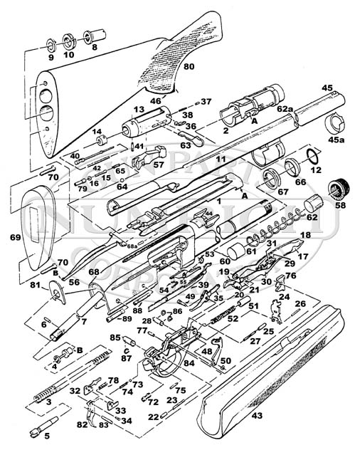1187 Remington Diagram Http Wwwgunpartscom Remingtonshotgun