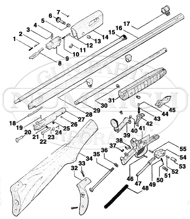 Remington Rifles 12 gun schematic