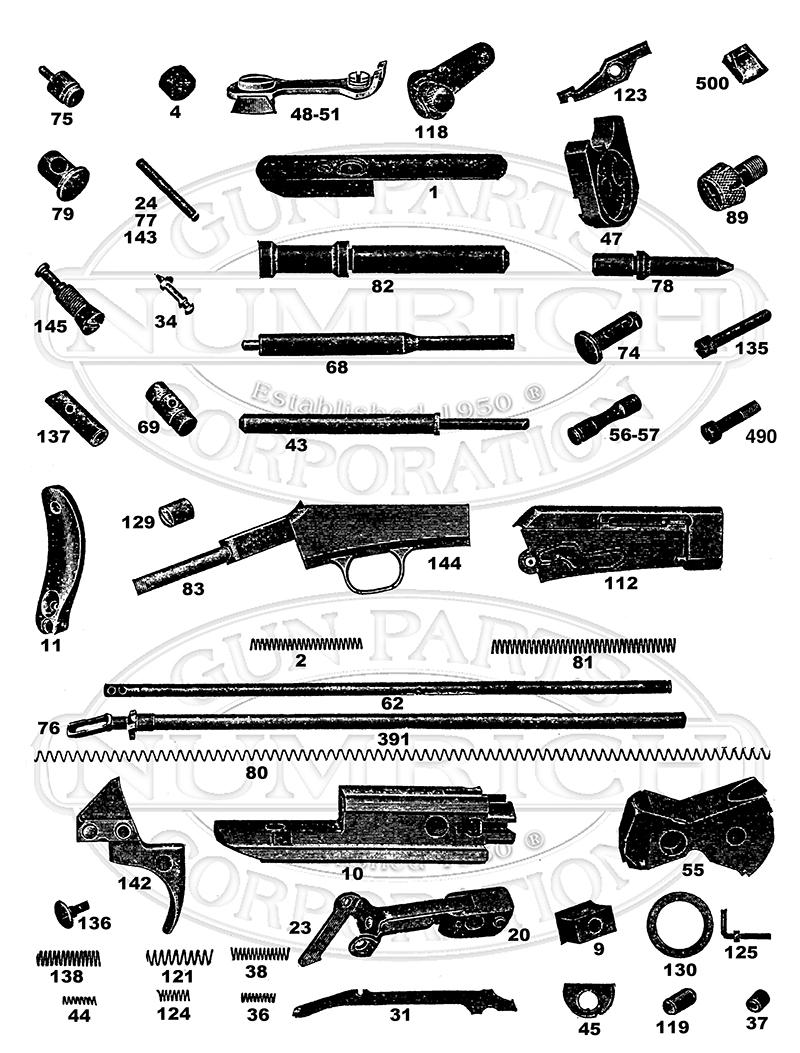 Remington Rifles 16 gun schematic