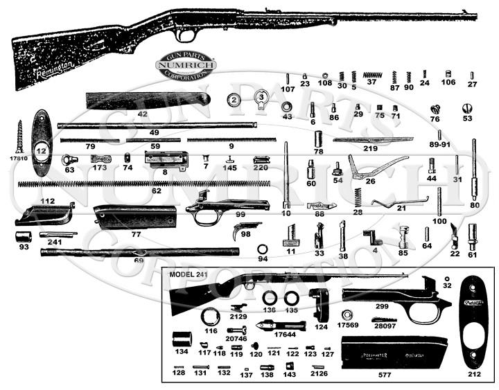 Remington Rifles 241 gun schematic