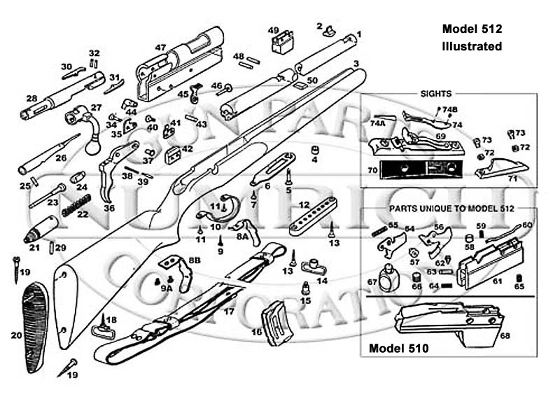 Remington Rifles 510 gun schematic