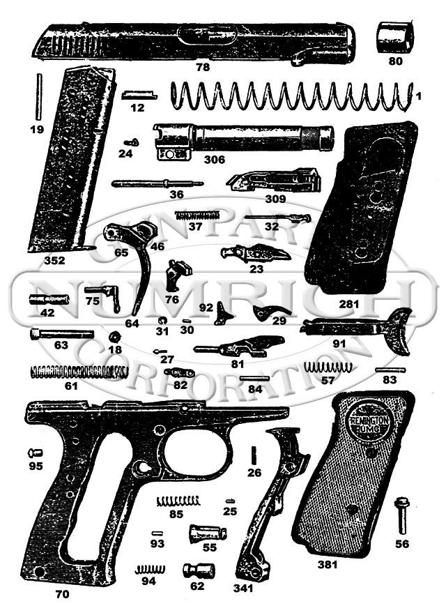 Remington Auto Pistols 51 gun schematic