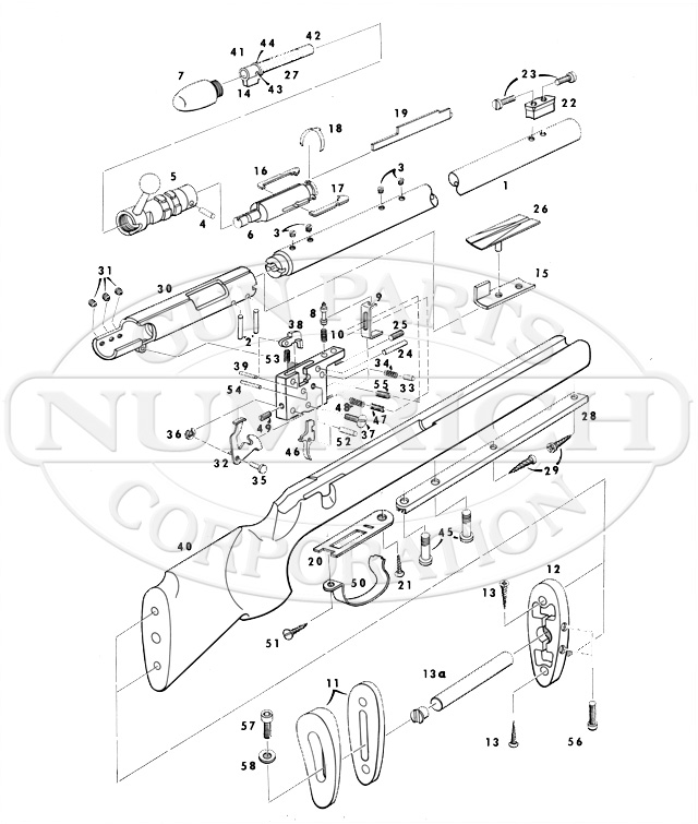 Remington Rifles 540X gun schematic