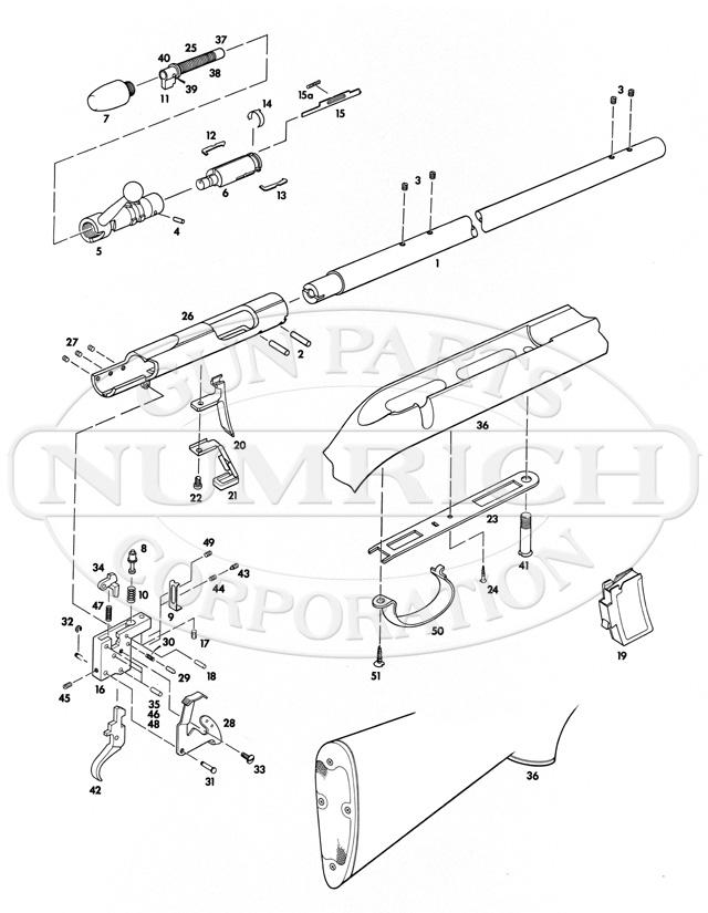 Remington Rifles 541S gun schematic