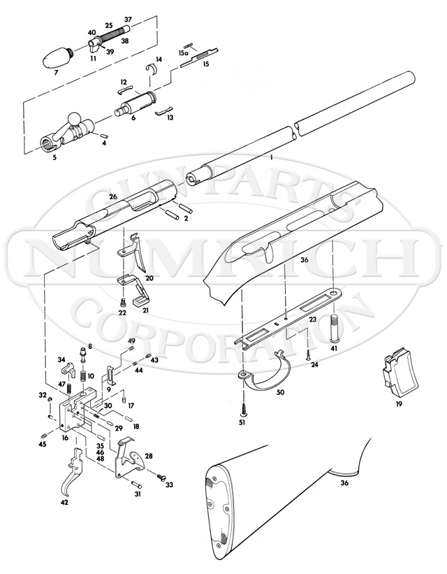 Remington Rifles 581S gun schematic