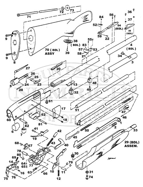 Remington 1187 Diagram As Well As Remington Model 11 Parts Diagram