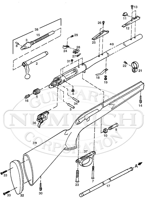 remington 700 muzzleloader parts and schematic