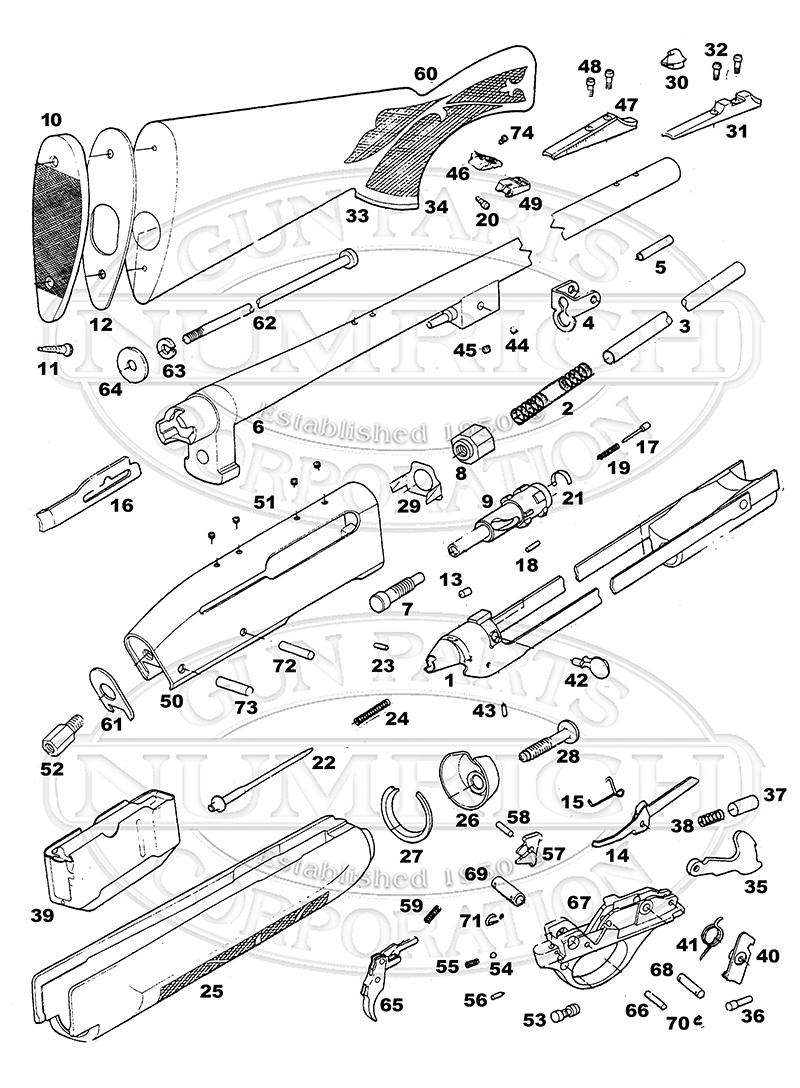 Remington Parts Diagram Excellent Electrical Wiring House 870 7400 Rifle Numrich Gun Rh Gunpartscorp Com 1100