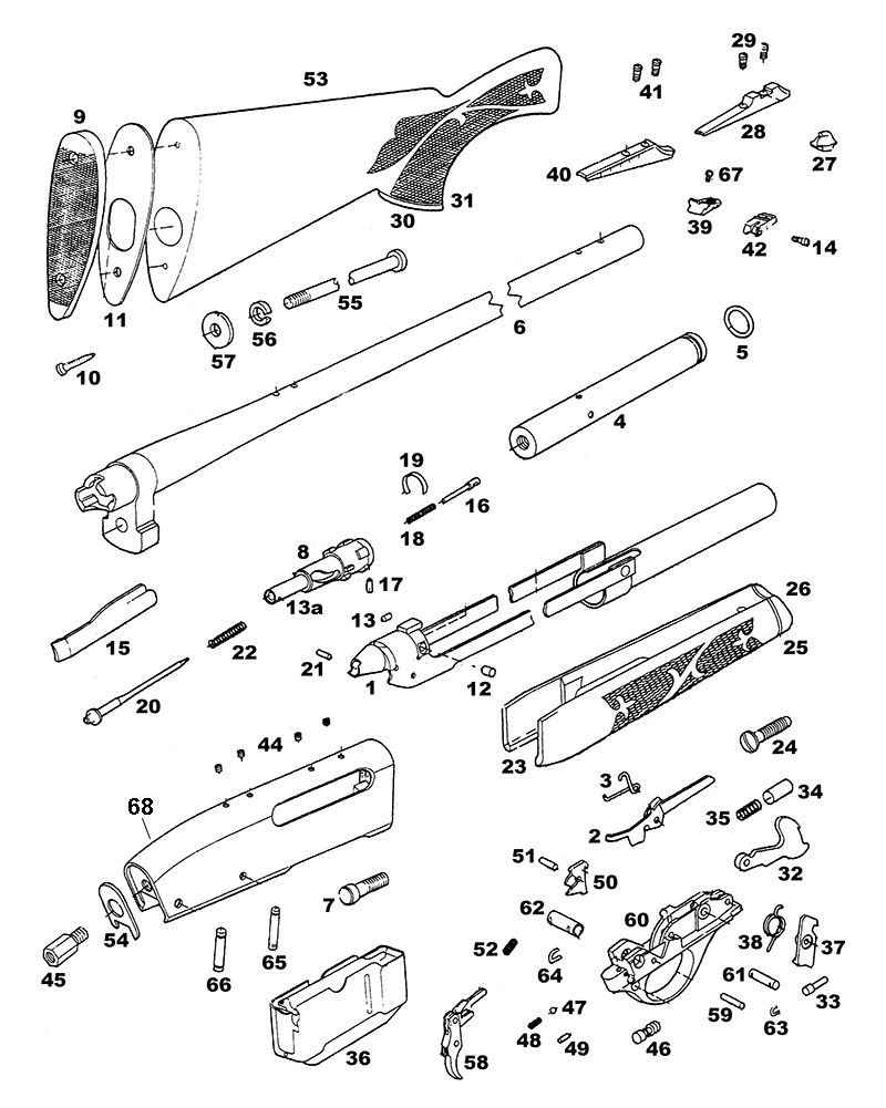 Remington Rifles 7600 gun schematic