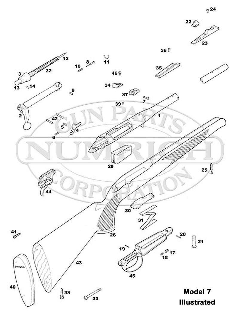 Remington Rifles 7 gun schematic