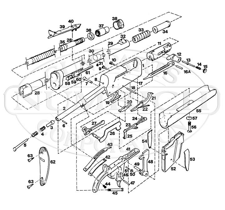 Remington Rifles 8 gun schematic