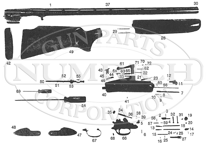 Remington Shotguns 90T gun schematic
