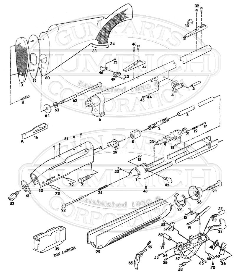 Remington Rifles Four gun schematic