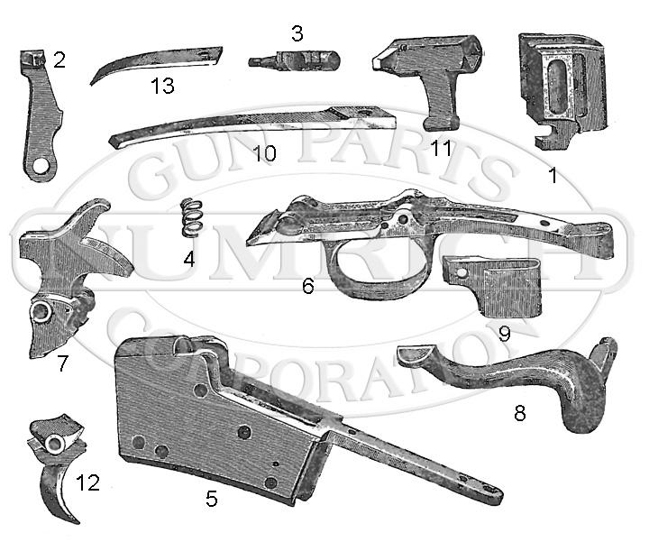 Remington Rifles Rolling Block No. 3 Single Shot Rifle gun schematic
