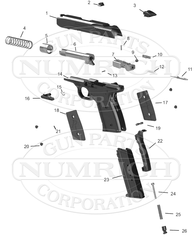 Remington R51 Pistol Parts | Gun Parts Corp