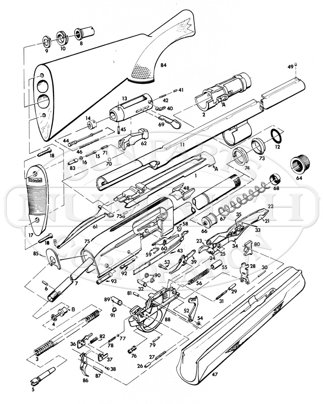 remington spt 12 parts and schematic