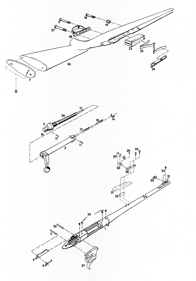 Remington Rifles SPT 78 gun schematic