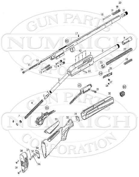 Remington Shotguns Versa Max gun schematic