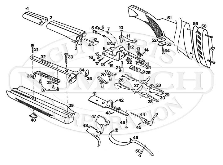 Richland Side By Side Shotgun gun schematic