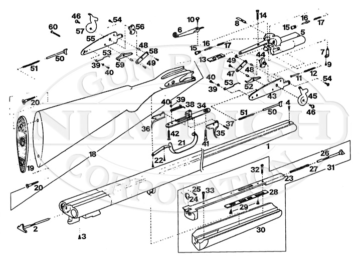 Rossi Shotguns Overland gun schematic