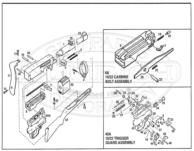 Ruger 10 22 Parts Exploded Diagram