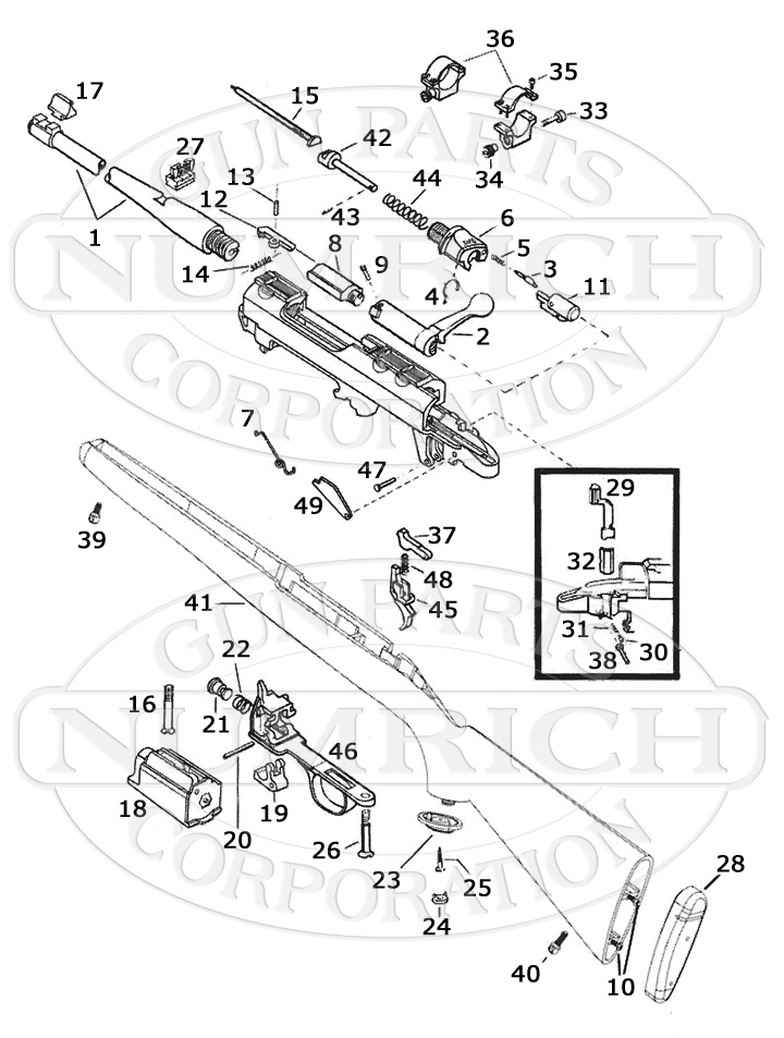 ruger 77 22 parts diagram free wiring diagram for you RSI Ruger Number 1 77 44 rsp schematic numrich rh gunpartscorp ruger 77 22 schematic ruger 10 22 parts