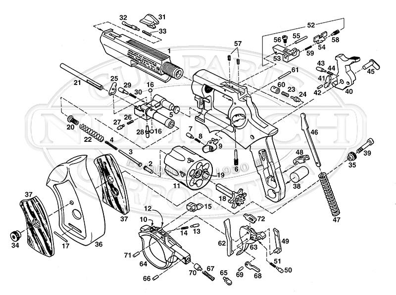 Ruger Revolvers GP100 gun schematic