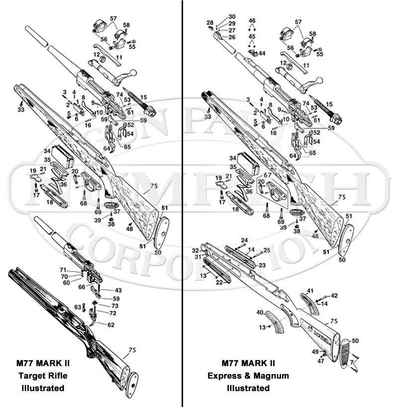 77 MKII Series Schematic | Numrich