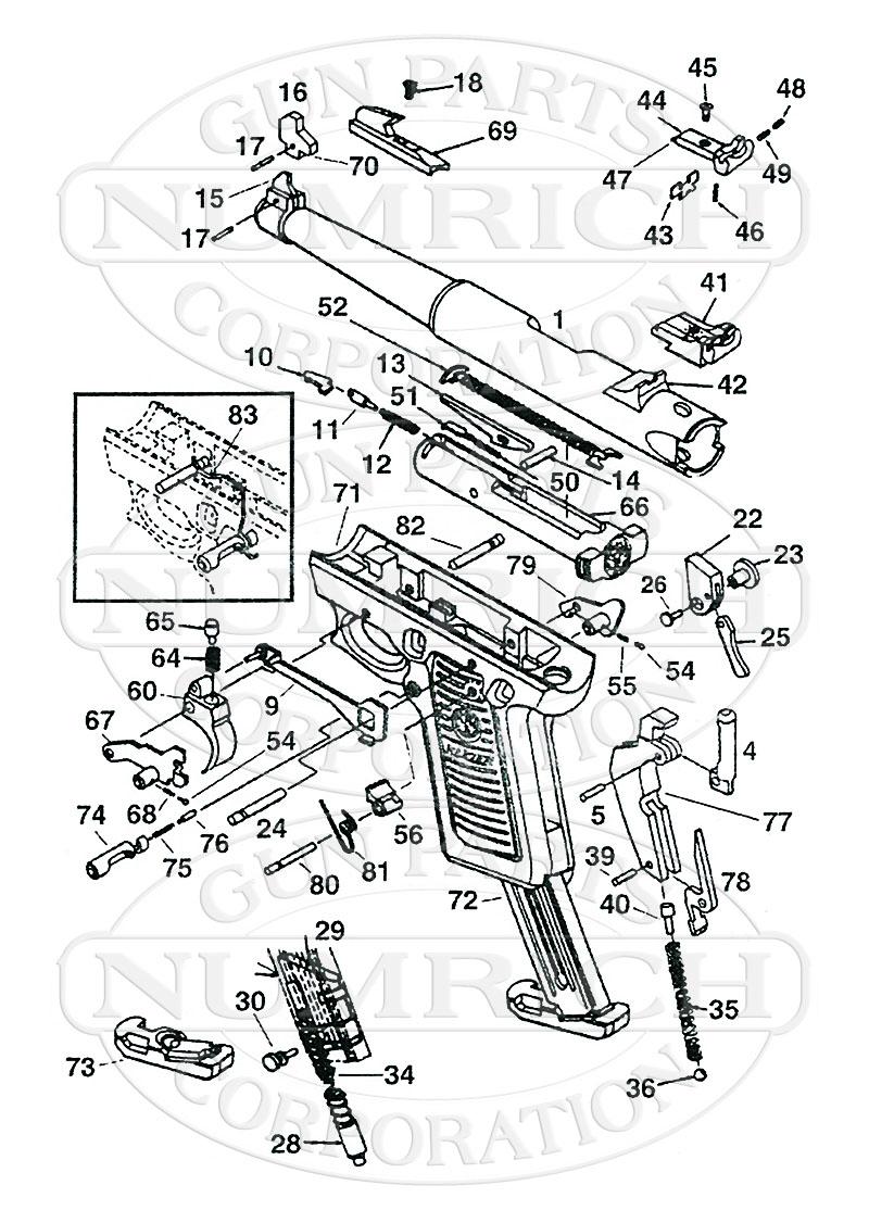Ruger Auto Pistols MKII 22-45 gun schematic