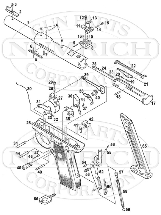 Ruger 22 45 Parts Diagram