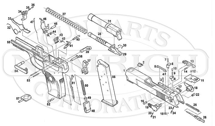 Ruger Auto Pistols P345 gun schematic