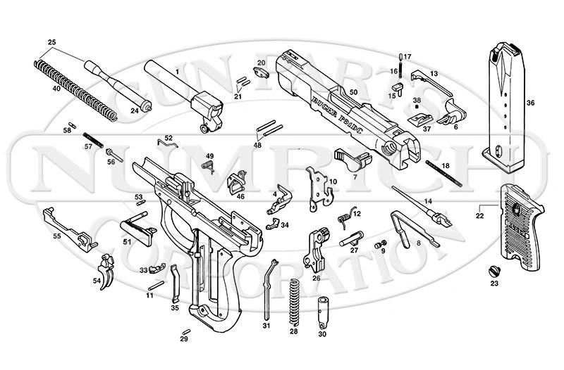 Ruger Auto Pistols P91D gun schematic