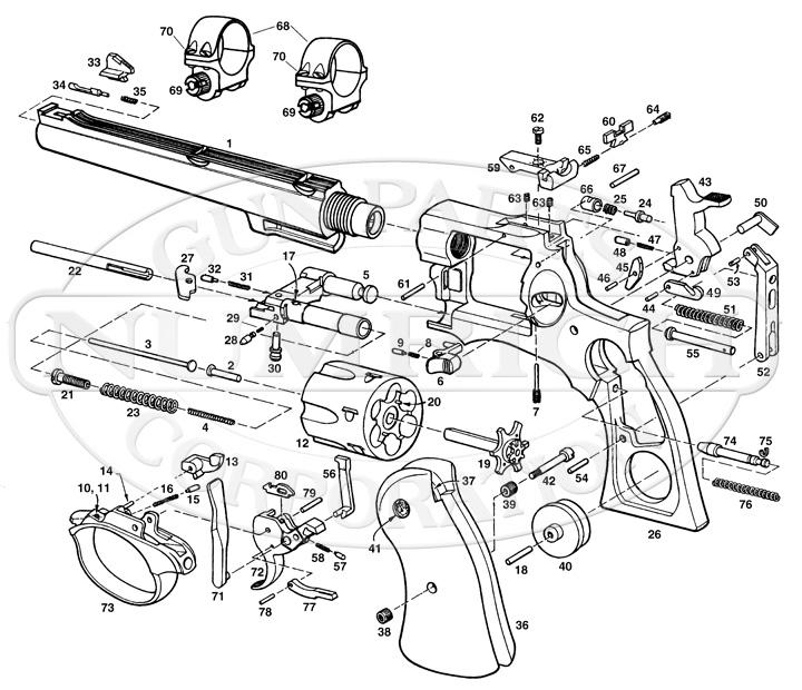 Ruger Revolvers Redhawk gun schematic