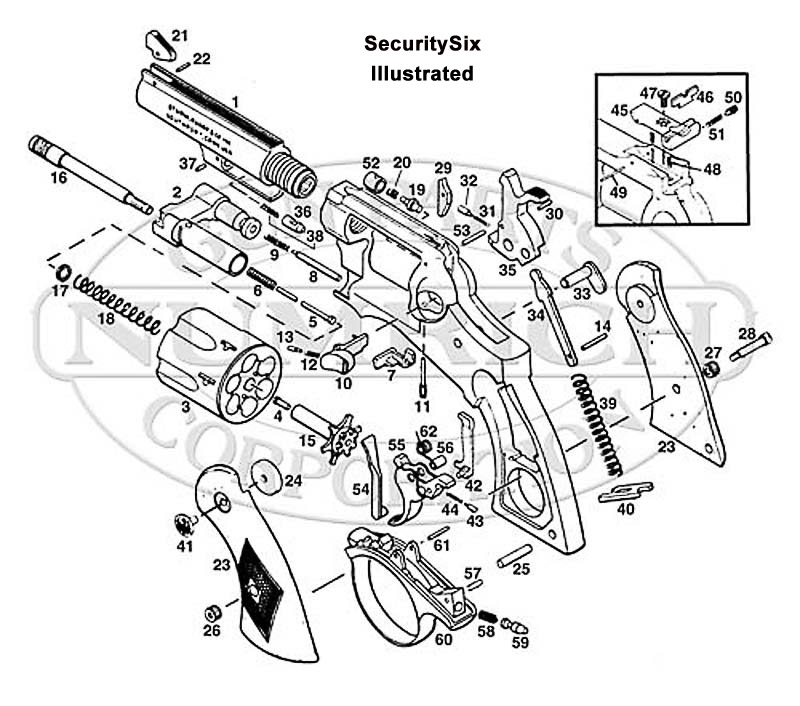 Ruger Security Six Parts