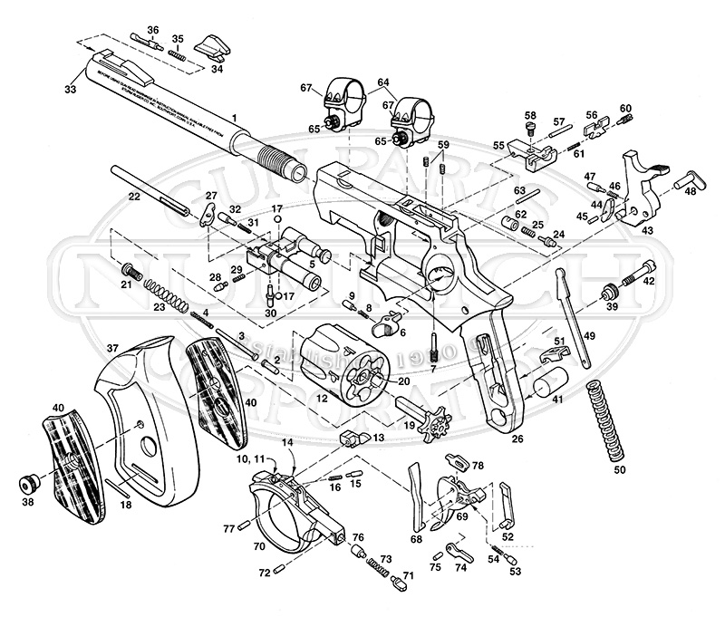 ruger mini 14 disassembly diagram