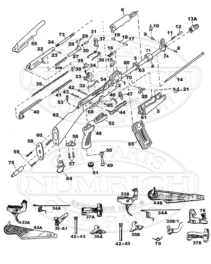 ak 47 schematic ak 47 parts list rh gunpartscorp com