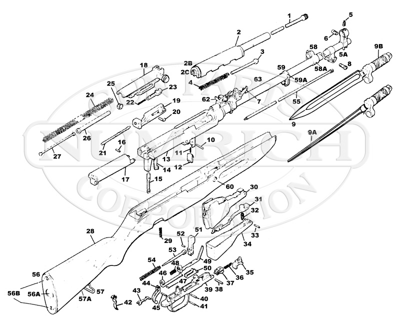 SKS Type 45 Parts List gun schematic