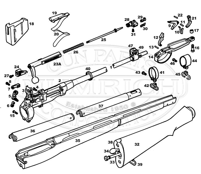 lee enfield no1 mk3 parts diagram