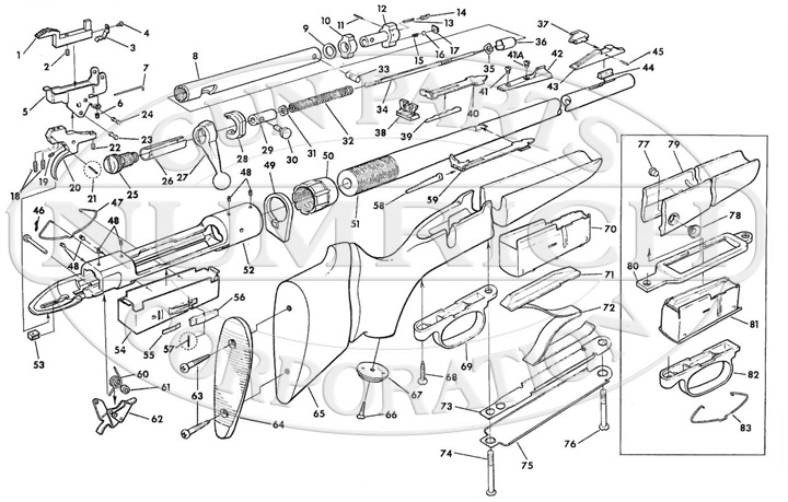 Savage/Stevens/Springfield/Fox Rifles 110 Series 110C gun schematic