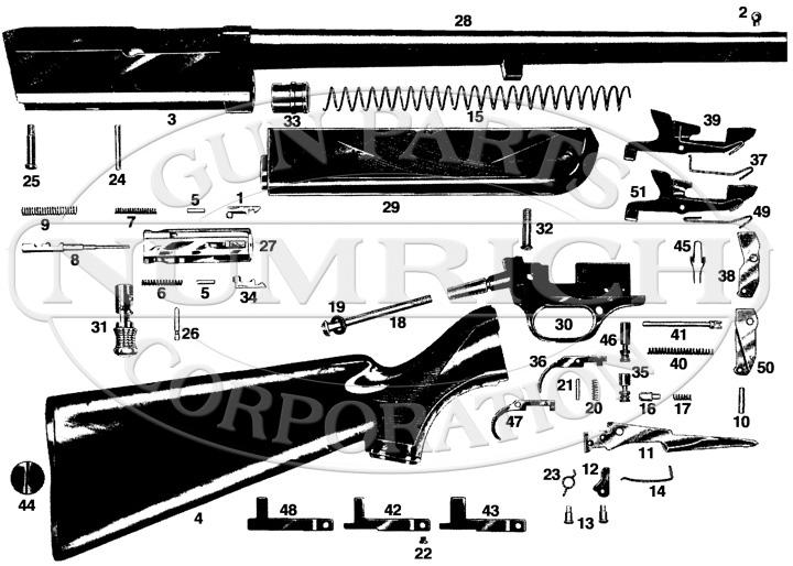 Savage/Stevens/Springfield/Fox Shotguns 124 gun schematic