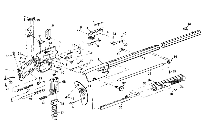 Savage/Stevens/Springfield/Fox Rifles 1909 gun schematic