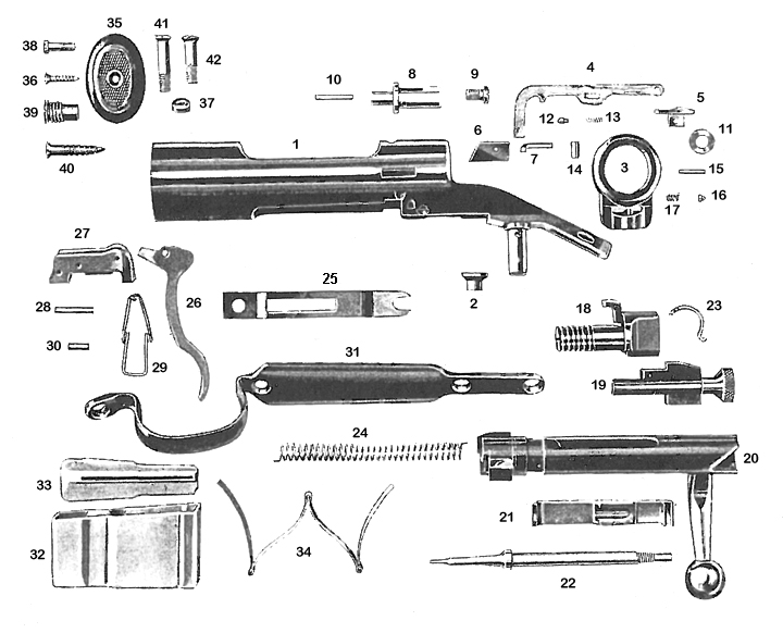 Savage/Stevens/Springfield/Fox Rifles 20 gun schematic