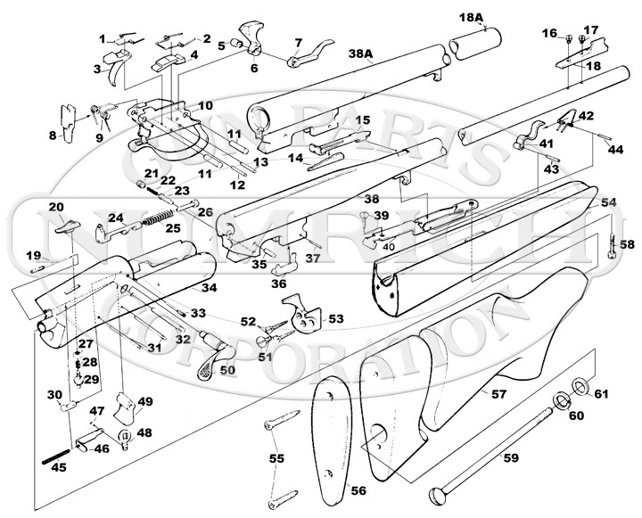 Savage/Stevens/Springfield/Fox Rifles 219LD gun schematic