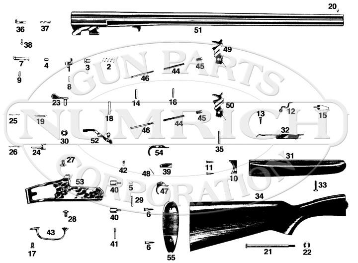 Sears Shotguns 102 gun schematic