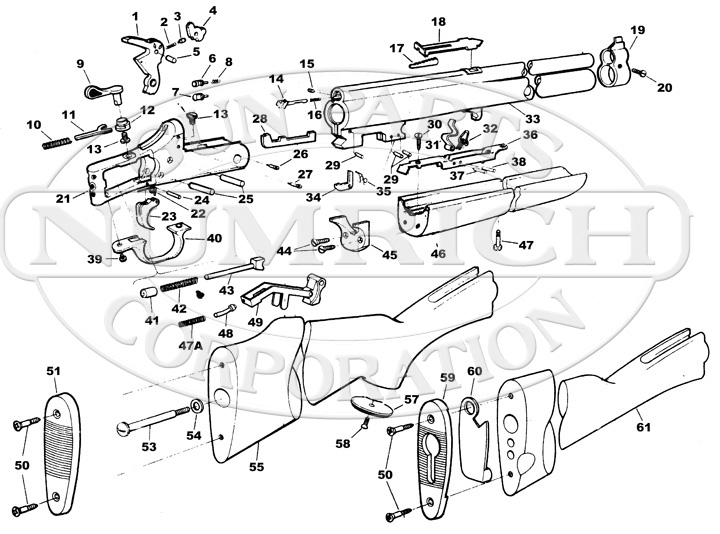 Savage / Stevens / Springfield / Fox Rifle/Shotgun Combinations 24D Series M gun schematic