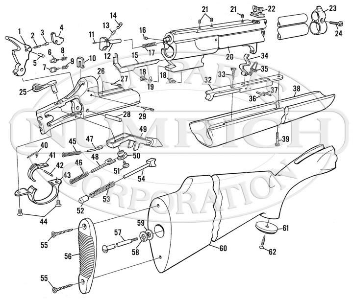 Savage / Stevens / Springfield / Fox Rifle/Shotgun Combinations 24V Series B gun schematic