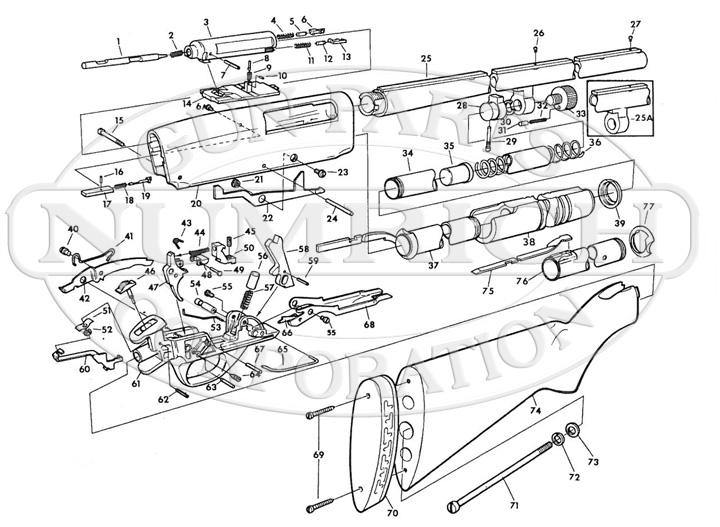 Savage/Stevens/Springfield/Fox Shotguns 30 Shotgun Series 30K Series B gun schematic