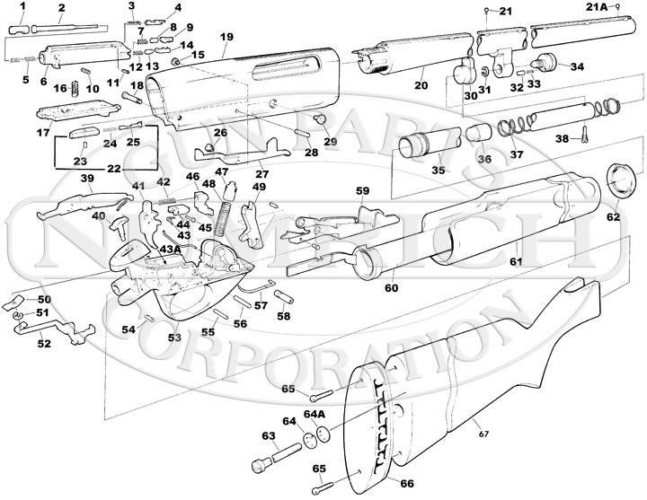 Savage/Stevens/Springfield/Fox Shotguns 30 Shotgun Series 30 Series E gun schematic