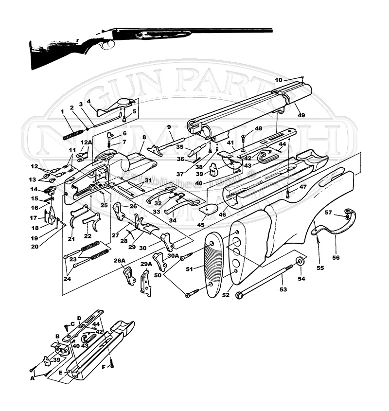 Savage / Stevens / Springfield / Fox Shotguns 311 Series 311 gun schematic