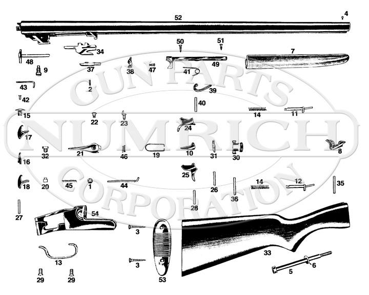 Savage/Stevens/Springfield/Fox Shotguns 315 gun schematic